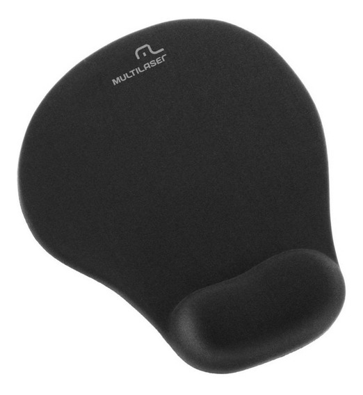 Base Para Mouse Pulso Gel Preto Medio Multilaser Ac024