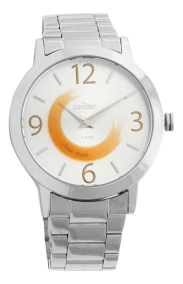 Relógio Condor Feminino Disco Prata Co2034ab/3k