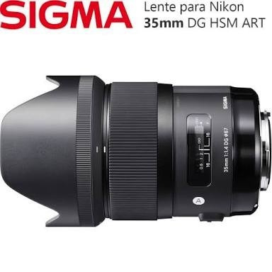 Lente Sigma Art 35mm 1.4 Dg Hsm Nikon