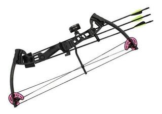 Arco Vortex Lite 18 - 29 Lbs Com 2 Flechas Destro - Black -