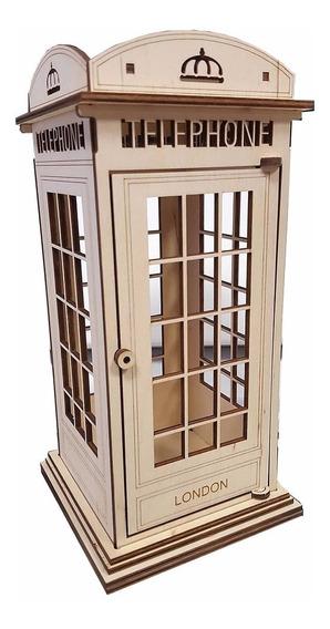 Cabina Telefónica Tipo Londres Mdf Centro Mesa Etc Full