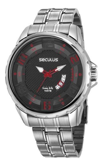 Relógio Seculus Masculino Prateado Modelo 23635g0svna1