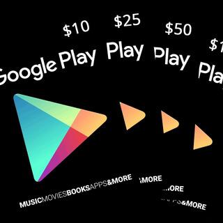 Tarjeta Google Play $5, Y Más (codigo Digital)