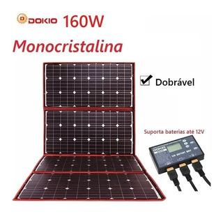 Painel Solar Com 4 Placa Solar 160w Portátil Original Dokio