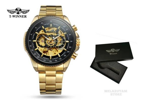 Relógio Masculino Winner Automático Skeleton