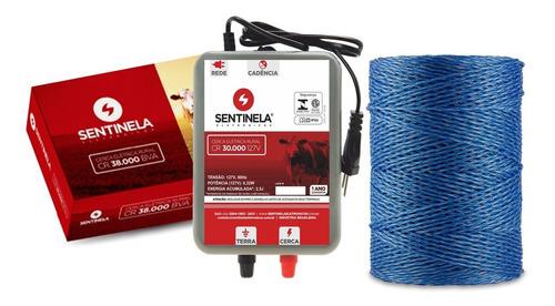 Imagem 1 de 5 de Kit Cerca Elétrica Rural Eletrificador Cr 30km + 500m Fio