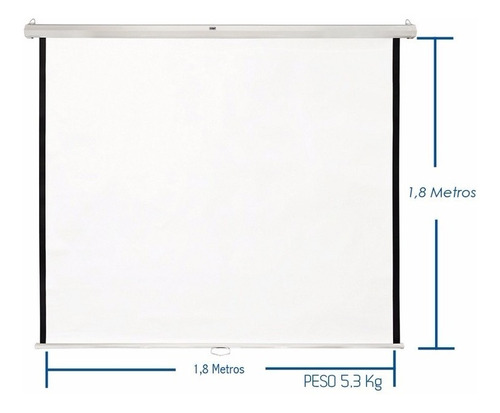 Imagen 1 de 2 de Telon Para Proyector Manual 1.8mt*1.8mt