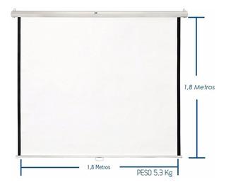 Telon Para Proyector Manual 1.8mt*1.8mt