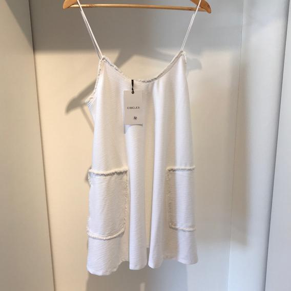 Vestido Blanco De Algodón Verano Cibeles Bertha