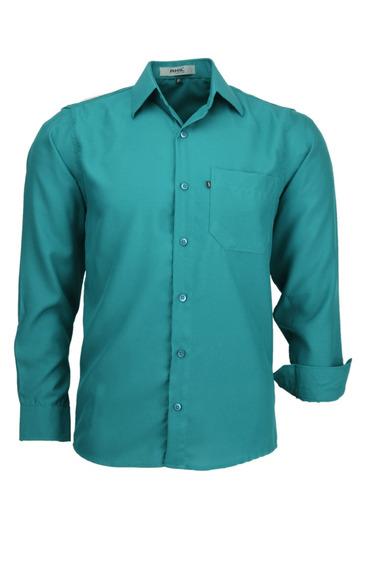 Camisa Microleve Manga Longa - Verde Turqueza - Ref 832