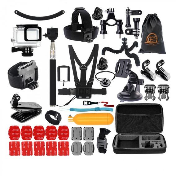 Kit Aventura Caixa Estanque Acessório Gopro Hero 5 6 7 Black