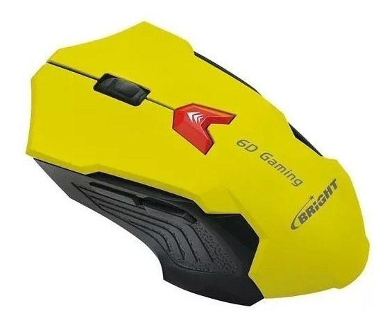 Kit 25 Mouse Gamer Bright 0375 Amarelo + Nota Fiscal**