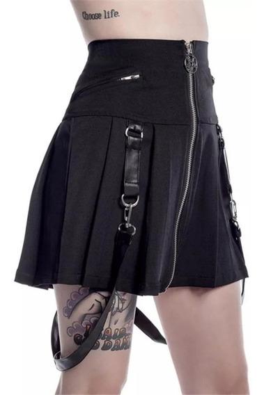 Falda Gótica Dark Moda Punk Lolita Metalera