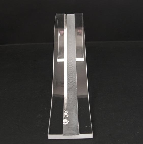 Pulsera Tejido Panza De Víbora Ó Planchado 2.5mm Ancho Plata