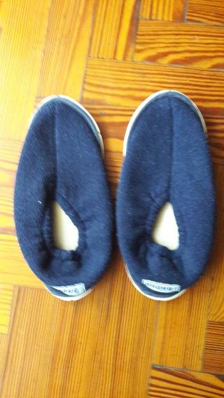 Pantuflas T36 Azul Oscuras Con Poco Uso!! Preciosaas!!