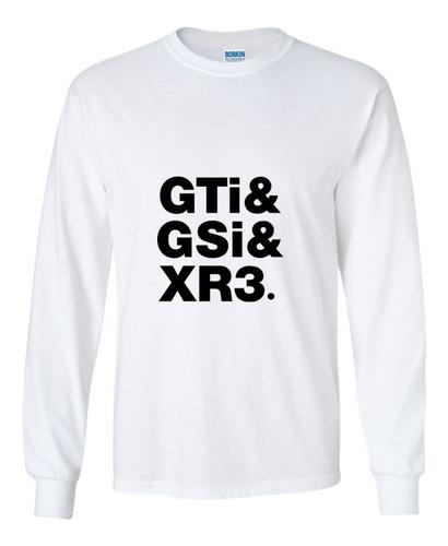 Imagem 1 de 1 de Camiseta Manga Comprida - Carros Clássicos Gti Gsi Xr3