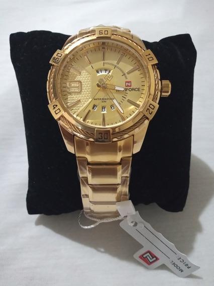 Relógio Naviforce Ótima Qualidade Resistente A Água + Caixa
