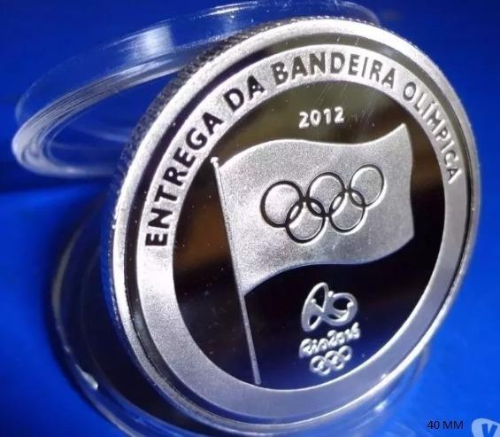 2 Moedas Da Entrega Da Bandeira Olimpíadas Rio 2016- Leia!!!