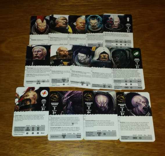 Warhammer 40k Deathwatch Overkill Baralho Deck Cartas