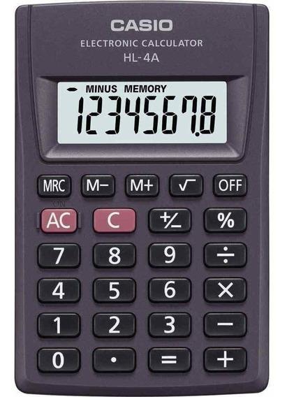 Calculadora Casio De Bolso Pequena 8 Dígitos Hl-4a Preta