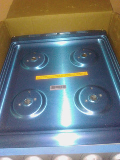Estufa Mabe 4 Quemadores Color Azul Con Horno Nuevo