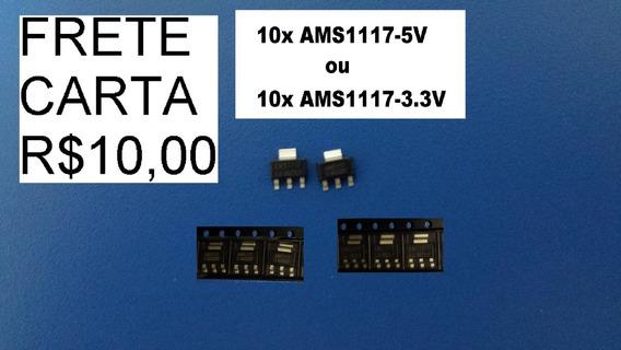 10x Circuito Integrado Sot-223 Ams1117 3.3v Saída 3.3v 1amp