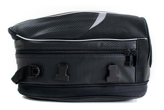 Bolso Trasero Moto Samurai Expansible 12/15 Lts Con Funda