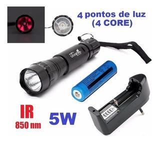 Lanterna Ultrafire 501b 850nm 5w Infravermelho Carreg. Bat.