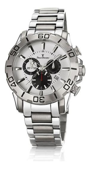 Relógio Pulso Jean Vernier Masculino Cronógrafo Jv01135