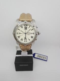 Reloj Seiko Hombre Vintaje Cuero Cronografo Original