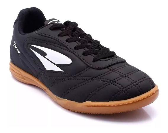 Chuteira Dray Futsal 802 Preto - Tamanho Adulto E Juvenil