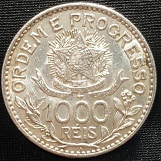Moeda 1.000 Réis Prata 1913 Estrelas Soltas