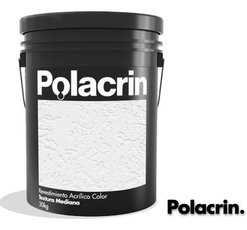 Revestimiento Texturado Polacrin Acrilico 25kg Blanco Color