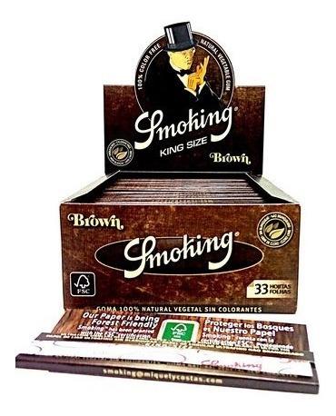Seda Smoking Brown 2 Caixas Com 50 Livretos Frete Grátis