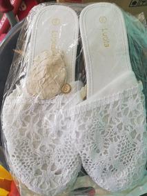 Sandalia De Encaje Blanca