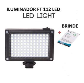 Iluminador Led Ft 112 Led Para Câmera Filmadora Etc...