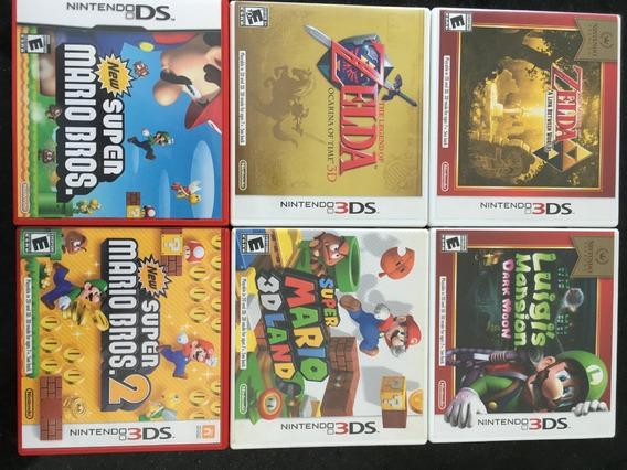 6 Jogos Originais Nintendo 3ds - Mídia Física - Mario+zelda