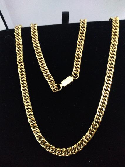 Corrente Cordão Feminino Serpentina Lacraia Banhado Ouro 18k