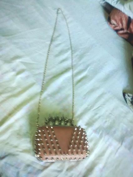Bolsa Clutches Dourada Com Tarrachas!!!