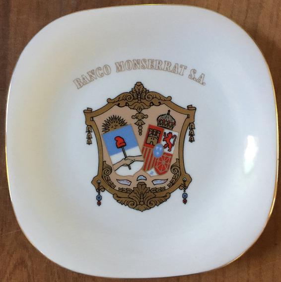 Plato Conmemorativo Banco Monserrat S.a. Porcelana Verbano