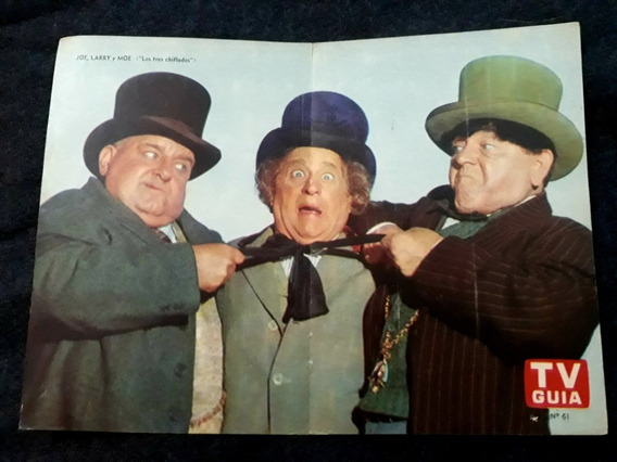 Los Tres Chiflados. Poster. Lámina Central Revista Tv Guía