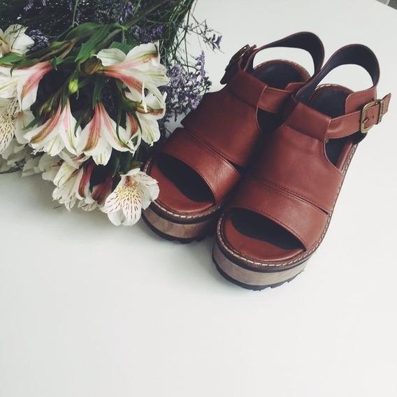 Zapato Sandalia Garfield Marron Talle 39