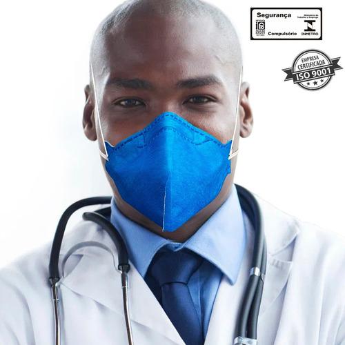 Kit 30 Máscaras N95 Proteção Respiratória Pff2 - Azul