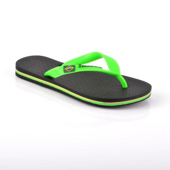 Ojota Ipanema Classica Kids - 416-60399-20534-negro Y Verde