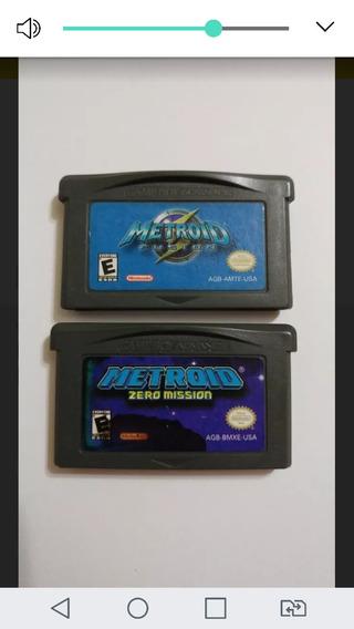 Metroid Fusion E Metroid Zero Mission Originais Americanos!!