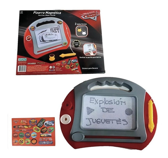 Pizarra Didactica Infantil Magnetica Cars Ditoys + 2 Sellos