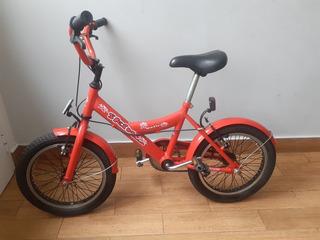 Bicicleta Niño Rodado 16 Con Casco - Impecable