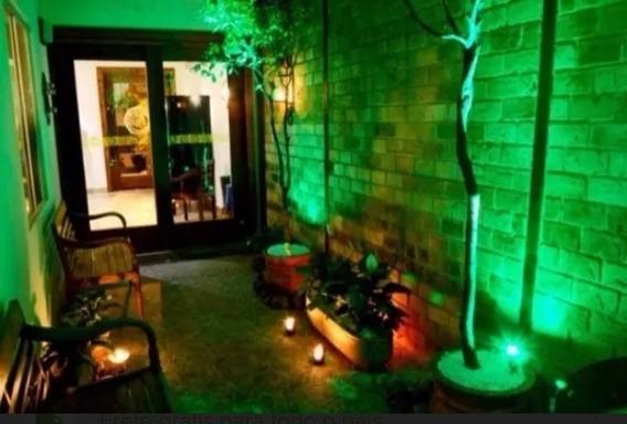 Kit 45 Luminaria Espeto Led Cob Jardim Lâmpada 10w Verde