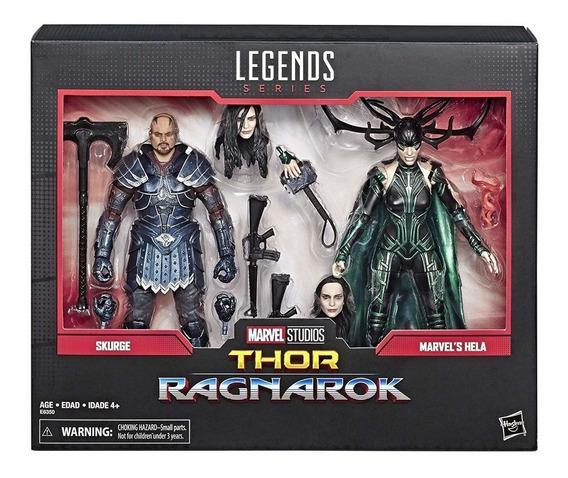 Marvel Legends 80 Anos Thor Ragnarok - Hela E Skurge 17cm