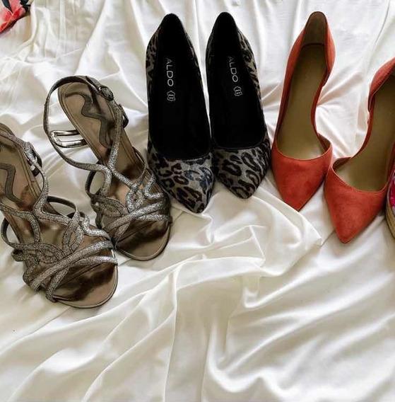 Lote De 3 Pares De Zapatos Marcas Americanas Talla 26/26.5